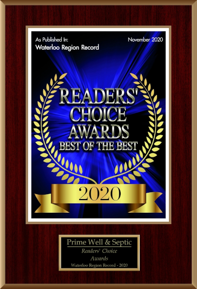 Waterloo Region Record Reader's Choice Award for Best Water & Septic Services 2020